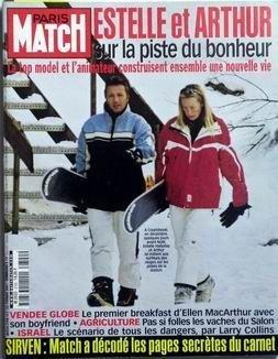 PARIS MATCH N° 2700 du 22-02-2001 ESTELLE ET ARTHUR - VENDEE GLOBE - ELLEN MACARTHUR - AGRICULTURE - LE SALON - ISRA+¿L DANGER PAR LARRY COLLINS - SIRVEN