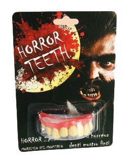 Horror Zähne - verschiedene Muster - ideal für Fasching - Wolfzähne - Hexe - Vampir - Freankenstein - Spangen ! (Zahnspange Kostüm Zähne)