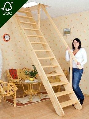 Oman Raumspartreppe Gerade 60 x 300 Holz