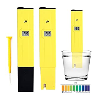 eLifeStore HOMPO Electric Pocket Digital Ph Meter Tester Hydroponics Pen Yellow