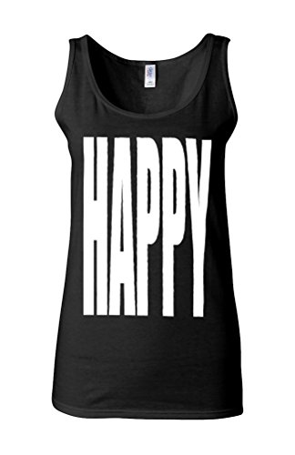 Happy Happay Summer Novelty White Femme Women Tricot de Corps Tank Top Vest *Noir
