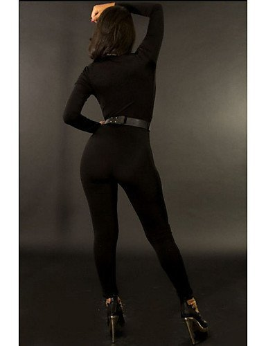 GSP-Combinaisons Aux femmes Manches Longues Moulant Modal Opaque Elastique black-m