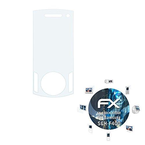 Samsung SGH-F400 Folie - 3 x atFoliX FX-Shock-Clear stoßabsorbierende ultraklare Panzerfolie