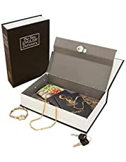 Zyomatiq Book Safe Dictionary Style Iron Locker Jewellery Home Safe Box Hidden Secret Book Locker with 2 Keys(Random Colour, Standard Size)