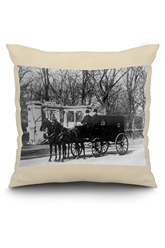 pabst-brewing-company-delivery-wagon-nyc-photo-20x20-spun-polyester-pillow-case-white-border