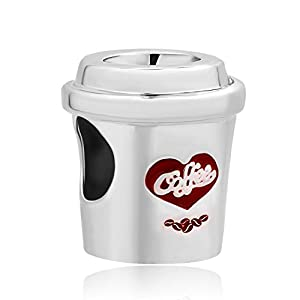 Korliya Kaffeetassen-Anhänger für Bettelarmband.