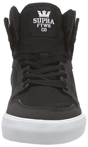 Supra Kids Vaider, Sneakers Hautes mixte enfant Noir (Black/White)