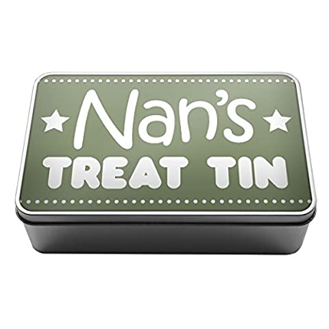 Sage Green Nan's Treat Tin biscuits chocolate gift idea Metal Storage Tin Box A012