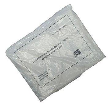 Einweg flach verpackt Kunststoff PE Kunststoff Schürzen X100 - Kunststoff-einweg-schürze