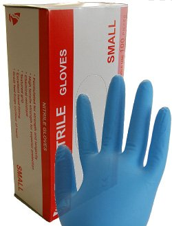 100 Stück, Nitril, Einweg, Einmal, Handschuhe, blau, in Spenderbox, EN455, Gr. S (7)