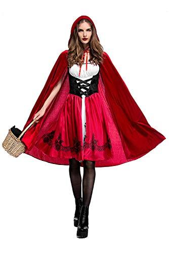 MingoTor Halloween Christmas Costume Cosplay Cappuccetto Rosso Costume Adult Cosplay Abito Vestito Party Nightclub Regina Sexy Donna Costume XXL