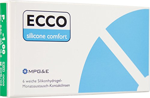 ECCO Silicone Comfort Monatslinsen weich, 6 Stück