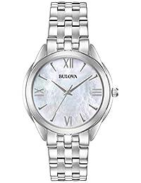 Bulova Reloj Analógico para Mujer de Cuarzo con Correa en Acero Inoxidable  96L268 6ddea9d77f1a