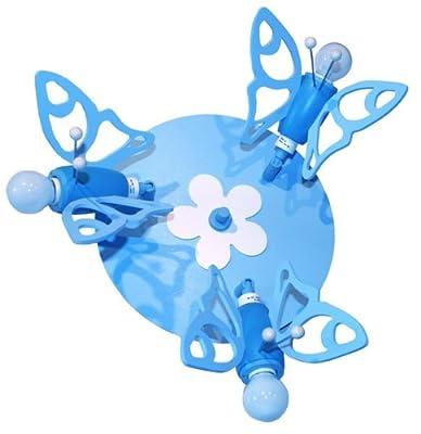 Elobra, 124970, Hellblau Falter Triple, Schmetterling, 40cm