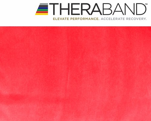 Original Thera-Band 2,5m rot + Original 24-seitiges Übungsbuch gratis -