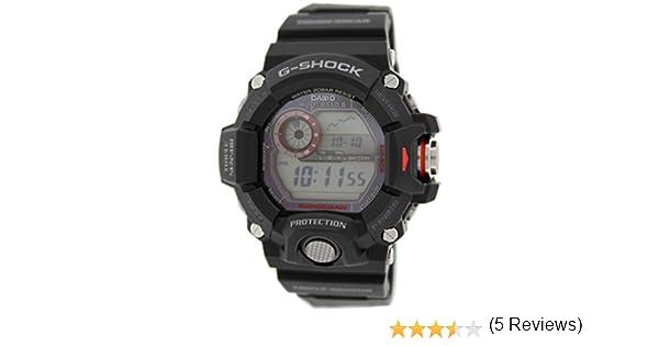 6c9f9c6be75514 Casio Montre Homme Digitale Énergie Solaire avec Bracelet en Résine - GW- 9400-1ER  Amazon.fr  Montres