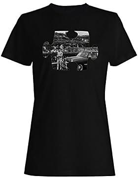 Rompecabezas viejo vintage hermoso coche camiseta de las mujeres e623f