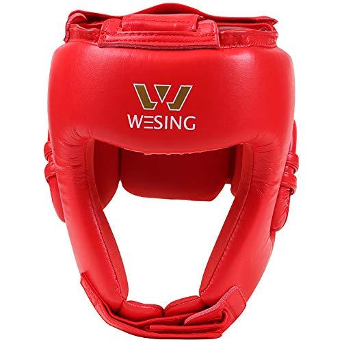 W WESING Box-Kopfbedeckung AIBA für Amateur-Wettkampf - rot - XL