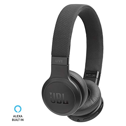 JBL Live 400BT Wireless On-Ear Voice Enabled Headphones (Black)