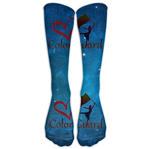 JAONGSADY COLOR GUARD Casual Unisex Sock Knee Long High Socks Sport Athletic Crew Socks One Size -