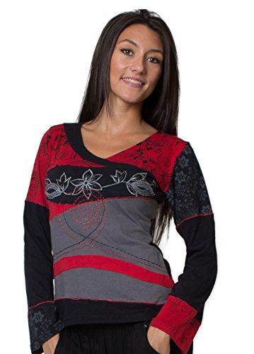 Coton Du Monde Damen T-Shirt Mehrfarbig