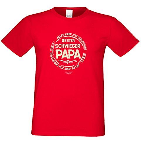 Bester Schwiegerpapa ::: Alles Liebe zum Geburtstag ::: Schönes T-Shirt für Herren als Geburtstagsgeschenk Farbe: rot Rot