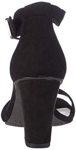 Tamaris - 28316, Scarpe col tacco con cinturino a T Donna Nero (Nero (Black 001))