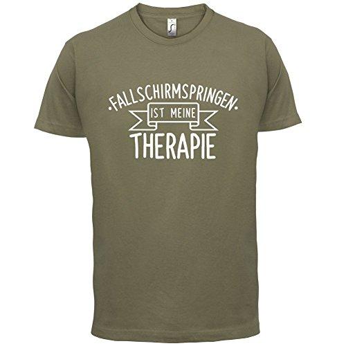 Fallschirmspringen ist meine Therapie - Herren T-Shirt - 13 Farben Khaki