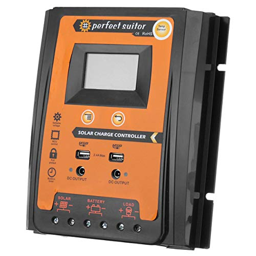 Comomingo 50A LCD MPPT Solarladeregler Tracer Auto Solar Panel Batterieregler