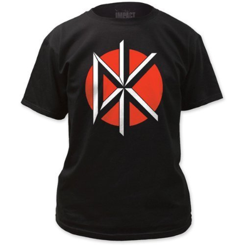 Dead Kennedys - Uomo Logo W/ Back Print T-Shirt in Nero, Size: X-Large, Colo...