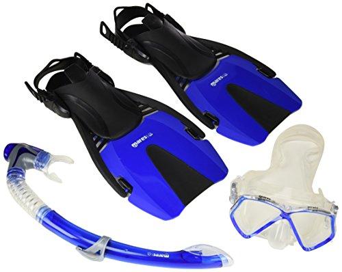 Mares Kinder Maske plus Schnorchel plus Flosse Set Coral Pirate, Blue, M/L, 410790TBBLML