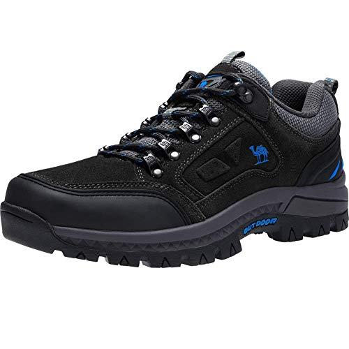 CAMEL CROWN Wasserdichte Wanderschuhe Outdoor Trekking Schuhe Männer Sport Hiking Bergschuhe für Klettern Reisen Täglichen Gebrauch Trainer,Grau 2,41 EU Wasserdicht Arbeit Schuh