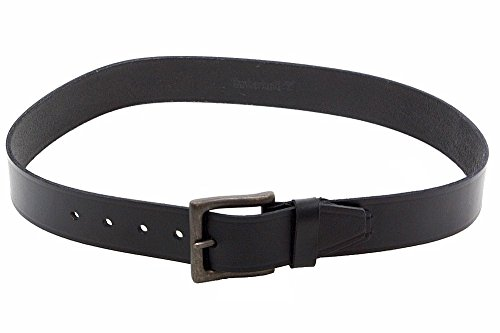 Timberland Mens Oil Tan Leather Belt Black