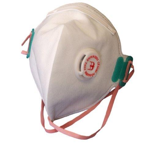 B marca pieghevole usa e getta Respiratore maschere antipolvere FFP2V 20pezzi con valvola