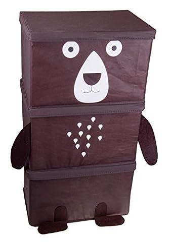 Brown Bear 3 Piece Stacking Collapsible Organizer