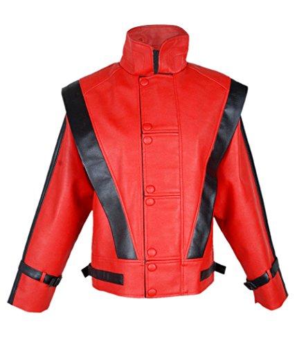 (Leatherly Leder Herren Jacke Michael Jackson Thriller Jacke - L)