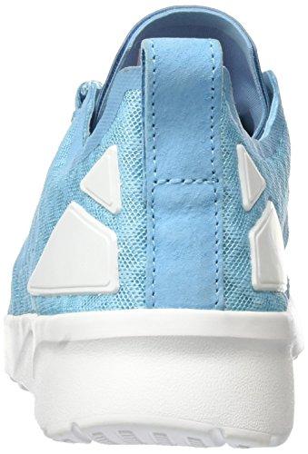 adidas ZX Flux Adv Verve, Baskets Basses Femme, 40 EU Bleu (Blanch Sky/Blanch Sky/Core White)