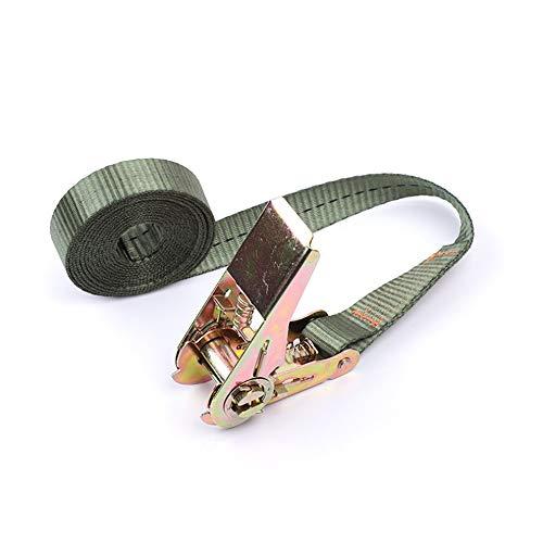 Green Army Buckle Tie-Down-Gürtel Cargo-Straps für Auto-Motorrad-Fahrrad mit Metallschnalle Abschleppseil Starker Ratchet Gürtel für Gepäcktaschen -