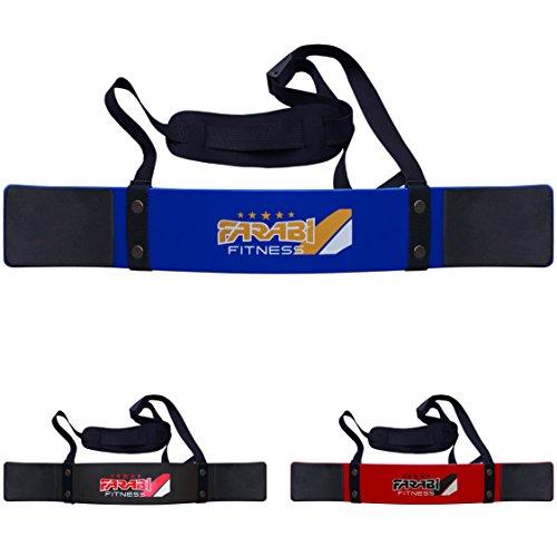 Farabi Arm-Blaster für Gewichtheben/Fitness, Bizeps-Isolator, Stützgurt für Krafttraining, Blau