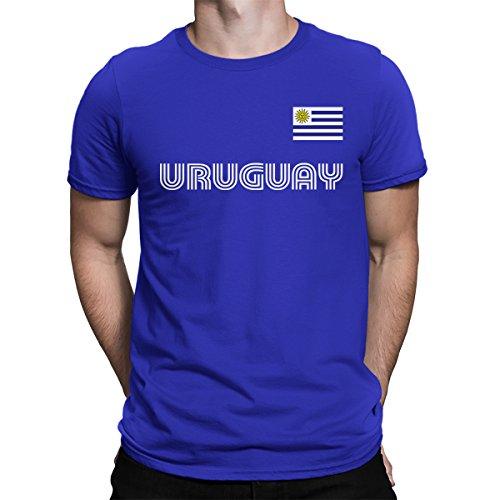 SpiritForged Apparel Herren T-Shirt Uruguay Soccer Jersey - Blau - Mittel (Uruguay Jersey)
