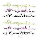 5pezzi Lettere Citazioni Autoadesivo del Tatuaggio temporaneo Diavolo Non Lettere Inglesi Tatuaggi Finti Tatto Design minimale per HC-58 10,5x15 cm
