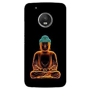 DASM United Moto G5 Plus Premium Back Case Cover - Buddha Glowing Art