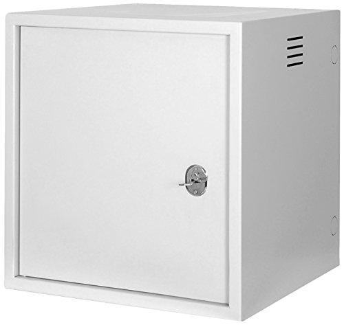 DIGITUS Professional 7HE Netzwerk Wandgehäuse – Serverschrank mit robustem Gehäuse und Hochsicherheitsschloss in Grau