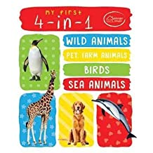 ‏‪My First 4 In 1 One Wild Animals, Pet and Farm Animals, Birds, Sea Animals : Padded Board Books‬‏