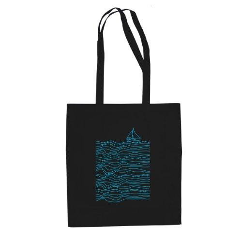 Blue Lines - Stofftasche / Beutel Schwarz