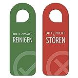 NBECOM 10 Stück Türanhänger Türschild Bitte Nicht stören und Zimmer reinigen, beidseitig Bedruckt, für Hotel Pension Ferienwohnung