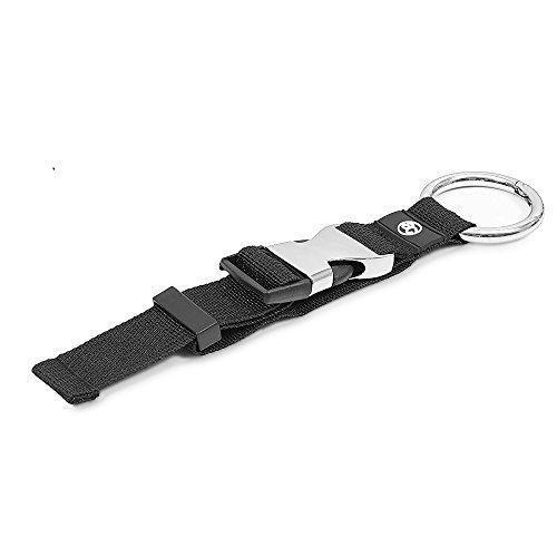 achilles Jacken-Halter für Jacken Einkaufstüten uvm. Größenverstellbar 33 cm Gurtlänge, schwarz mit silberner Metall Schnalle