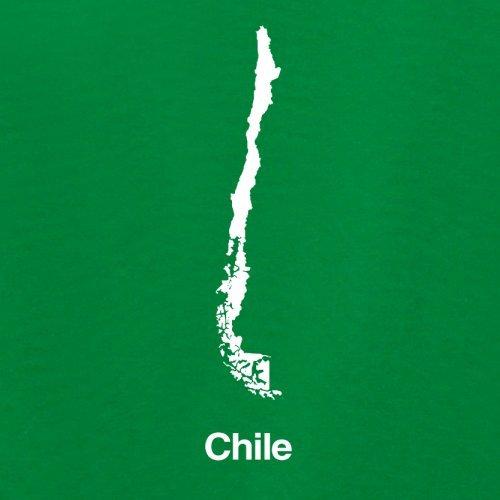 Chile / Republik Chile Silhouette - Damen T-Shirt - 14 Farben Grün