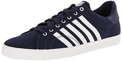 K-Swiss Belmont So T M, Baskets basses homme, Bleu - Blau (NAVY/WHITE 401), Taille 41 (7 UK)