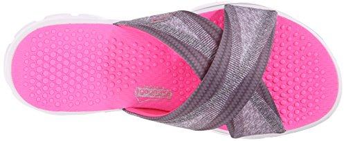 SkechersGo Walk Fiji - Sandali donna Charcoal/Hot Pink